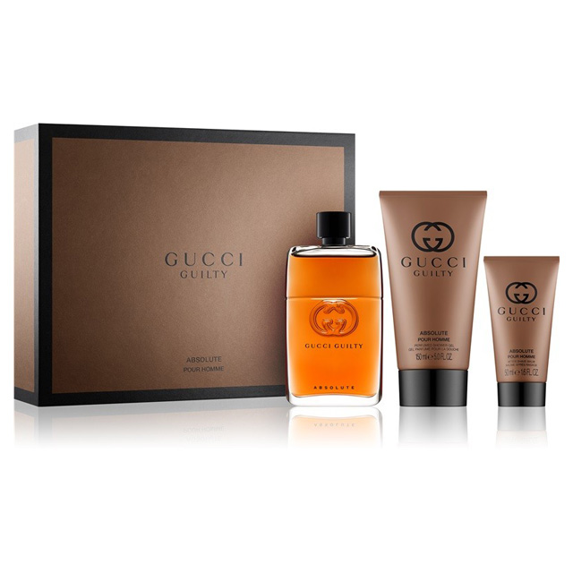 51c86cfd5a Gucci Guilty Absolute Pour Homme 3 Pcs Gift Set for Men, Health ...