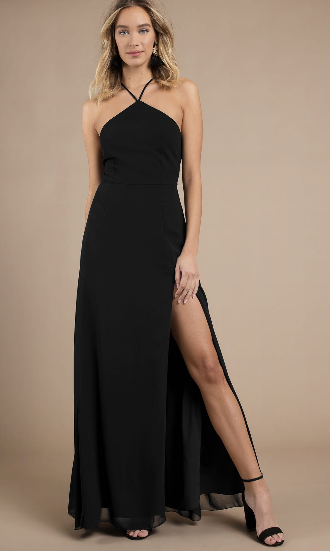 b35845ee410 Tobi rise above black maxi dress, Women's Fashion, Clothes, Dresses &  Skirts on Carousell
