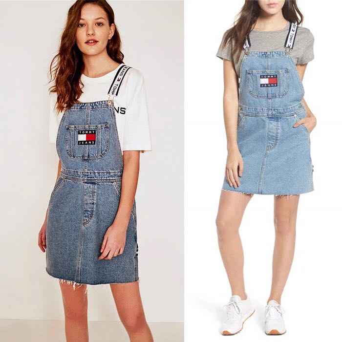 70015e4b8 Tommy Jeans Suspender Skirt, Women's Fashion, Clothes, Others on ...