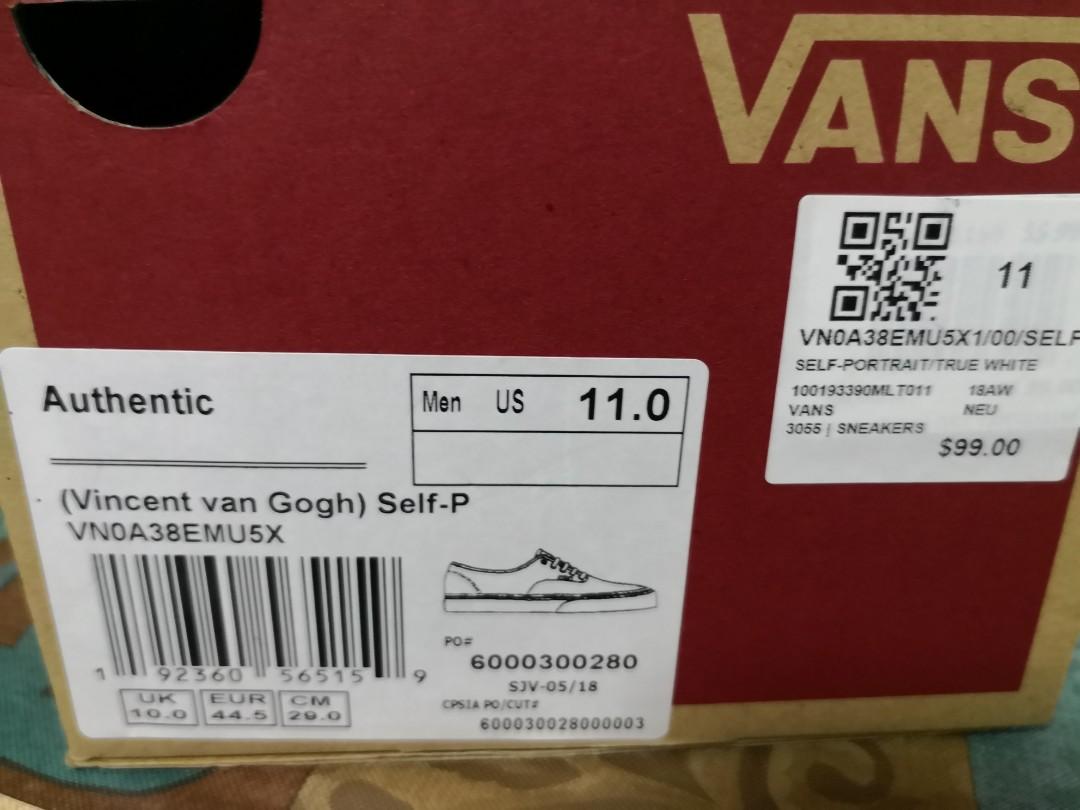 cf033c291df7 US11 UK10 EUR44.5 Vans x Vincent van Gogh self-portrait Old Skool ...