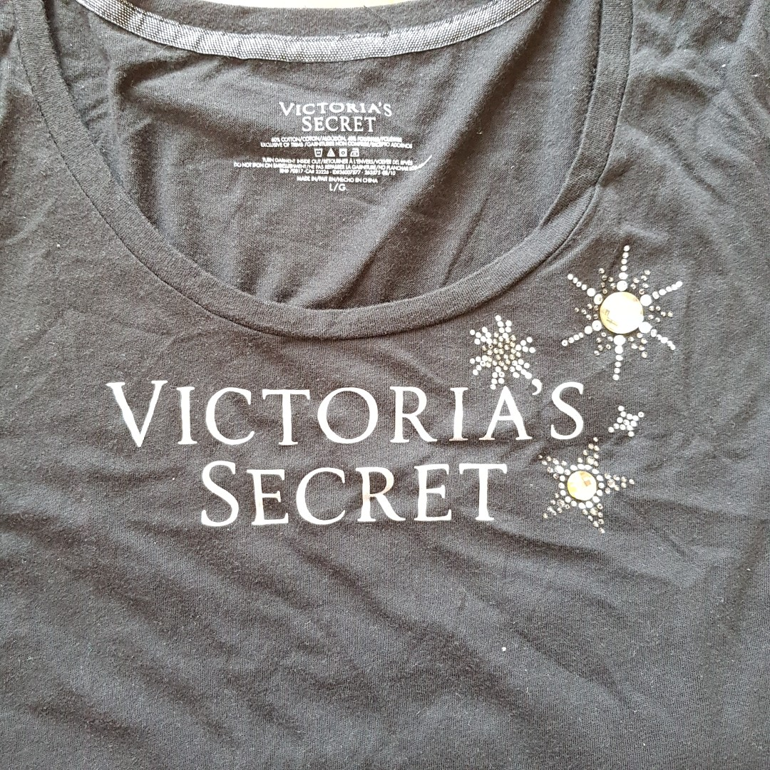 d1324bb5d943e Victoria's Secret Black Long Sleeve Pyjamas