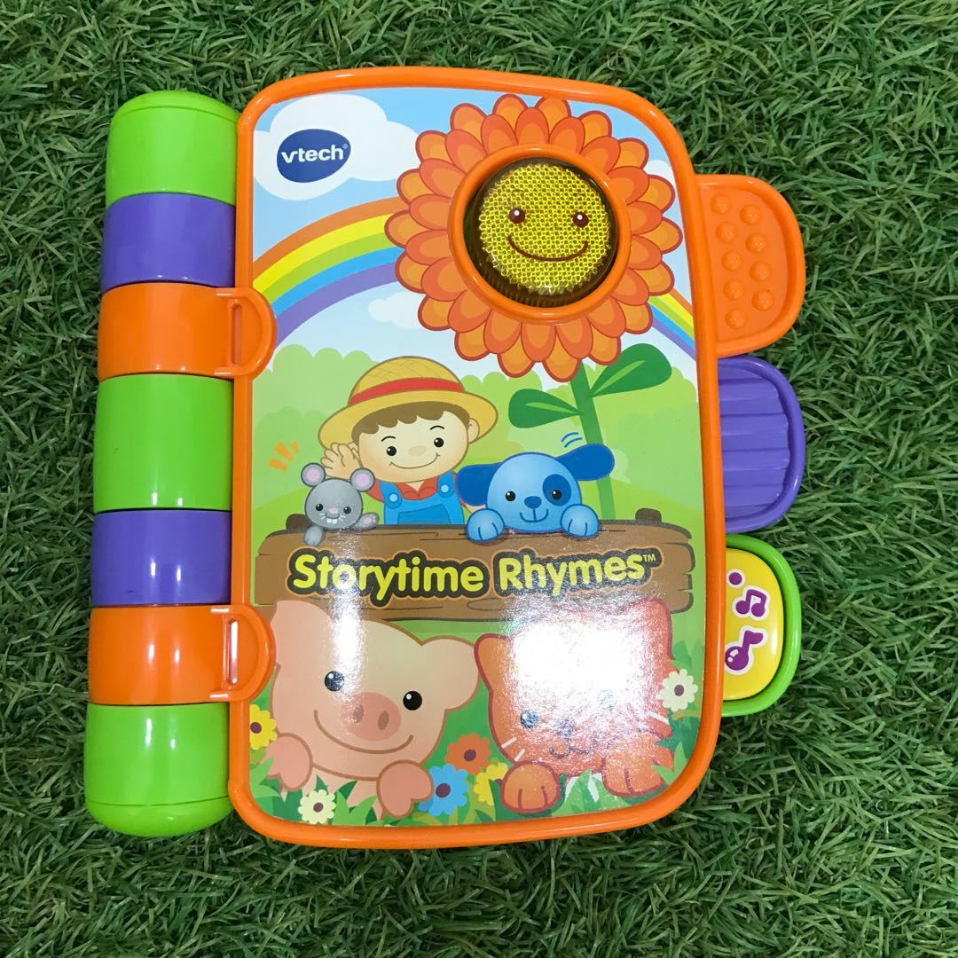 Vtech Story Time Book Rhymes Carry Along Book Babies Kids Toys