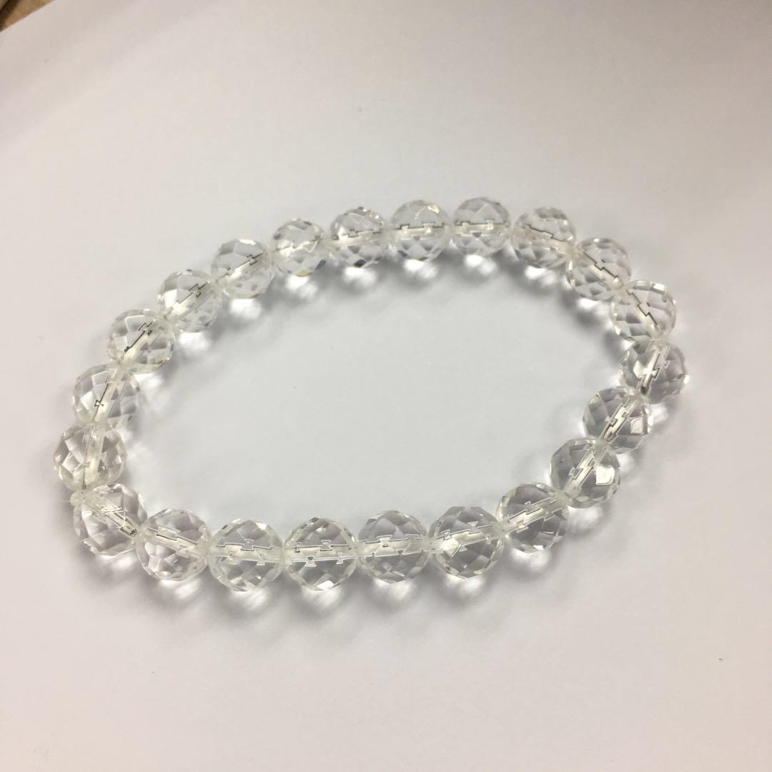 White Crystal Quartz Bracelet 8mm