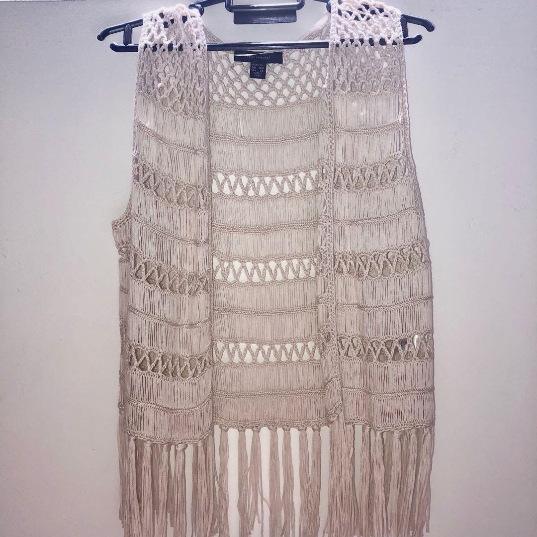 2b8f7164db White lace Coachella cardigan, Women's Fashion, Clothes, Outerwear ...