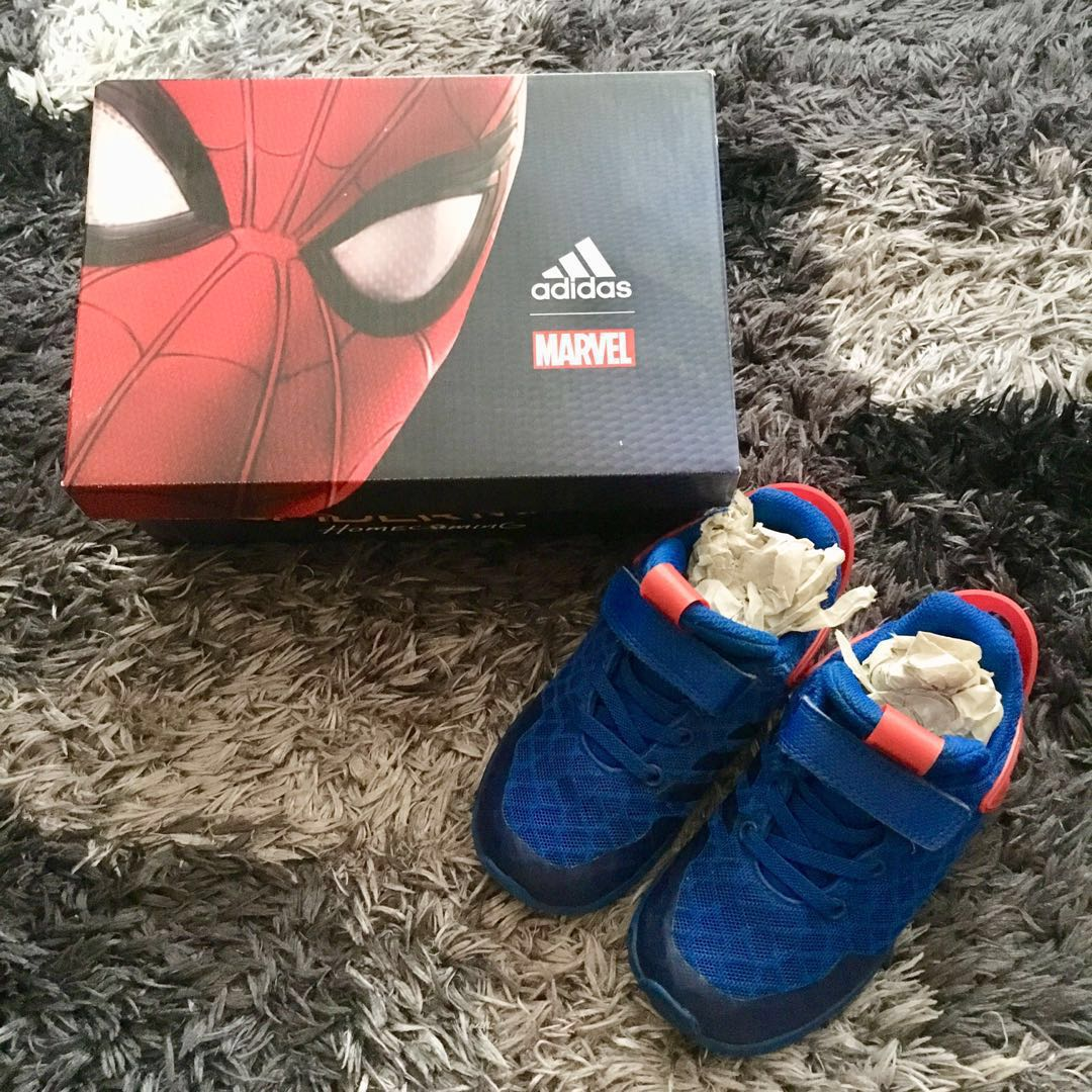 86618debcd7e4 Xmas blessing~Adidas Spider-Man Rapidaru kid s running shoes