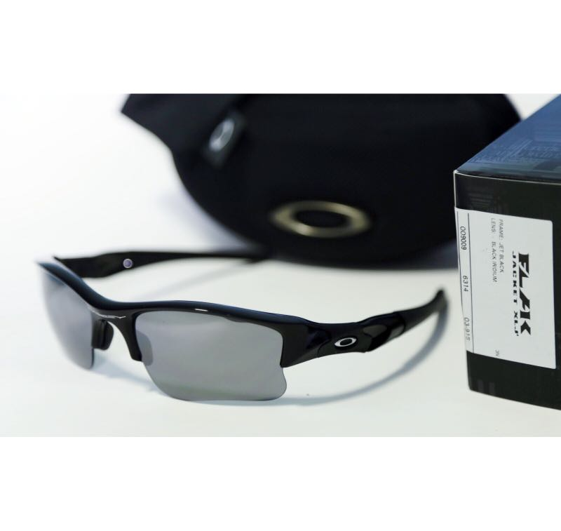 fb384598295b4 X mas Sale! Oakley Flak Jacket XLJ Jet Black w  Black Iridium Lens ...
