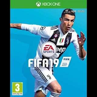 🚚 Brand New Microsoft Xbox One FIFA 19 2019 Digital Download Game Code