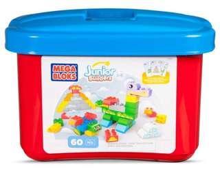 Mega-Bloks Junior 60件中顆粒筒裝積木