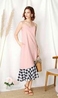 Andwelldressed Sidelines Contrast Hem Maxi Dress Size L
