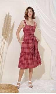 Andwelldressed Infinity Button Down Checks Dress Size L