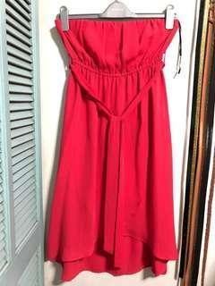 Forever 21: Tube Dress (Neon Pink)