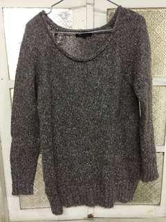 NET保暖長版毛衣/版型寬鬆/可穿至小XL