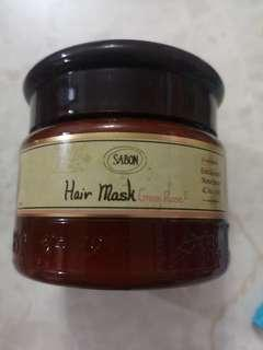 Sabon green rose hair mask