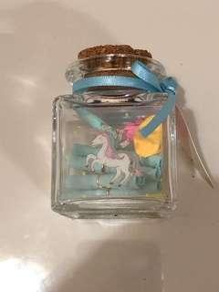 Unicorn Wishing Star/Scroll Bottle