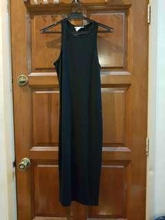 Forever 21 Black Bodycon Midi Dress