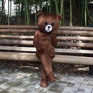 Calm Bear Mascot