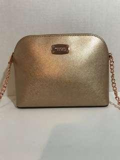 New Michael Kors Rose Gold Dome Bag