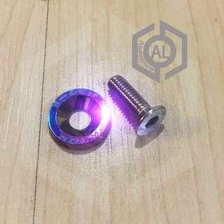 Password JDM M6 (6mm) CSK Countersunk Cap Bolts And Washers (Rainbow)