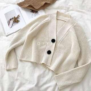 Cream Buttoned Up Cardigan