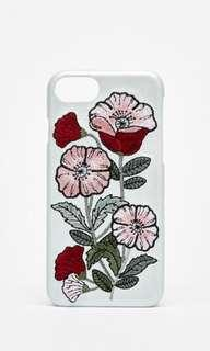 Bershka IPhone case with floral embroidery