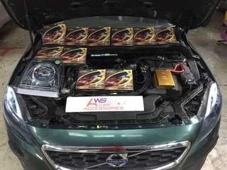Volvo V40👉2014 Installed 10 Ponit *Power Nano Grounding Cables* N *Zynergy Ground King Vehicle Rectifier*