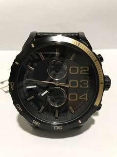 Diesel Men's DZ4327 Double Down Series Analog Display Analog Quartz Black Watch