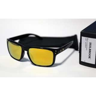 CLEARENCE! Oakley Holbrook Polished Black w/ 24k Iridium Lens(Asia Fit)
