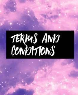 t & c ( terms and conditions )