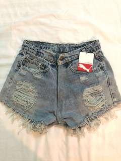 Ripped Distressed Denim Shorts