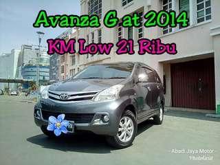 Toyota Avanza G at 2014, KM Low 21 Ribu, Grey Istimewa, Antik ##