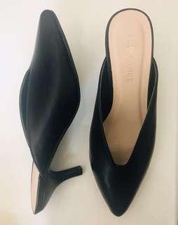 Black Mule Pointed Heels Size AU 5/ EU 36