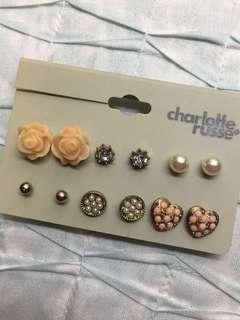 6-pairs fashion earrings (SET A)