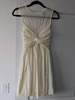 Cream asos semi formal dress
