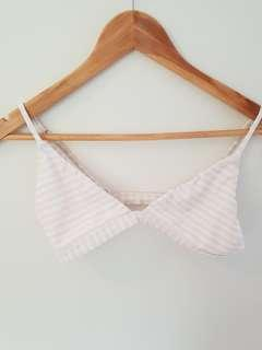 PINK AND WHITE STRIPE BIKINI SET