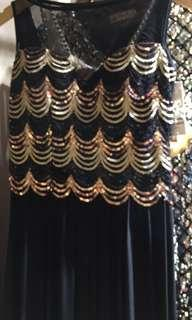 Sequins glitter dinner dress