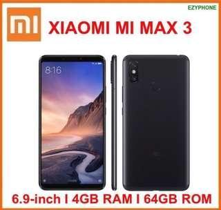 XiaoMi Mi Max 3 Playstore Android 64GB 4GB RAM