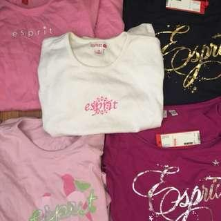 Women's and kids esprit long sleeve tops and tshirts