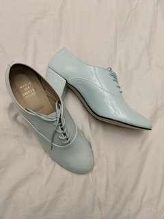 American Apparel - NWB Mint Green Patent Leather Oxfords - size 9