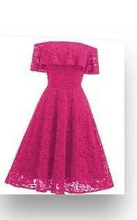 Lace stretch dress( on hand 16 December/Sunday )
