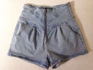 Front zip highwaist Short