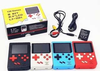 In stock -Retro games 2.4 inch LCD colour screen console with 129 built in games - 8 Bit