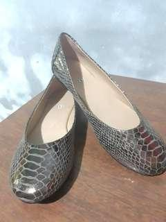 Silver snake shoes