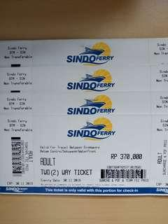 Sindo Ferry Ticket valid for all passport