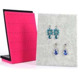 🚚 L型首飾展示架 飾品架子絨布耳環耳釘耳釘展示板 珠寶展示道具