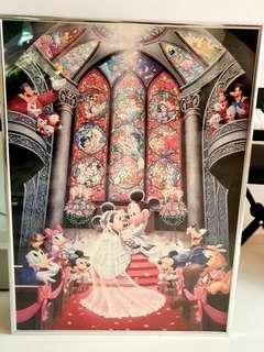 1000 pieces mickey mouse puzzles with frame