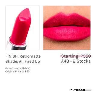 MAC - All Fired Up (Retromatte Lipstick)