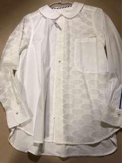 🚚 異材質拼接棉質設計感襯衫