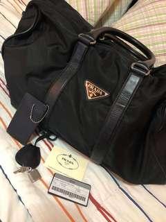 Authentic prada nylon luggage bag