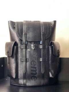 52d3cccedc4d SALE with Serial LV Supreme Backpack LV Backpack Louis Vuitton Supreme LV  Epi Bag LV Bag
