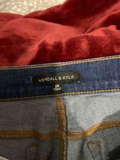 Kendall & Kylie collection jeans ripped